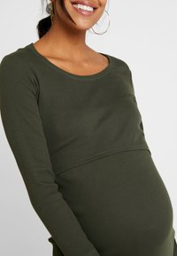 Boob - SIGNE DRESS - Długa sukienka - moss green - 4