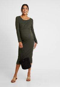 Boob - SIGNE DRESS - Długa sukienka - moss green - 1