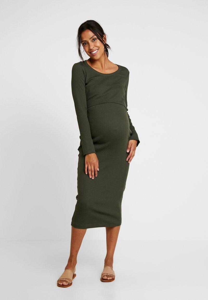 Boob - SIGNE DRESS - Długa sukienka - moss green