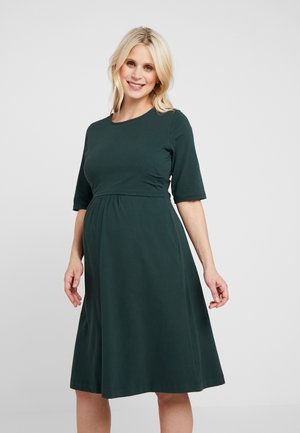 LINNEA DRESS - Vestito di maglina - dark green
