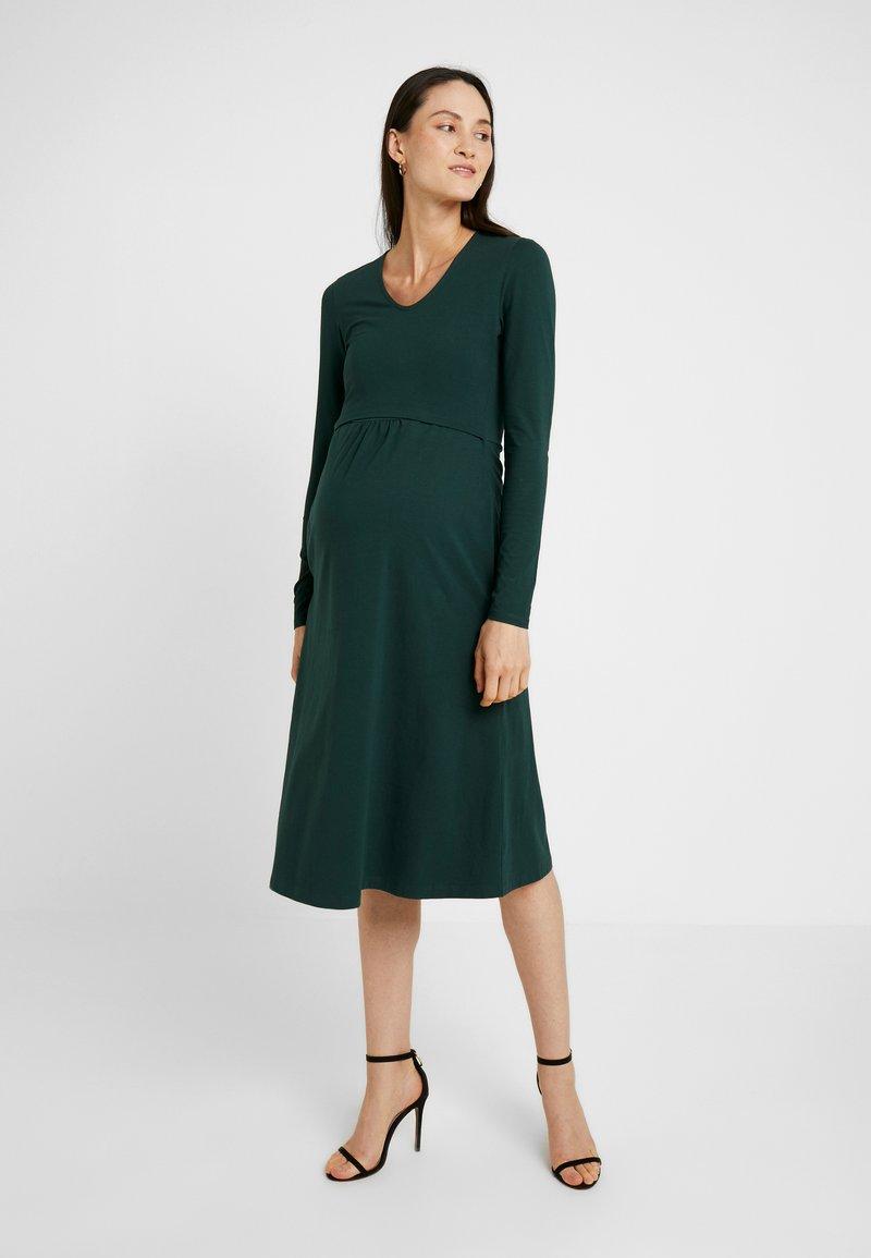 Boob - CHARLOTTE DRESS - Jerseykjole - dark green