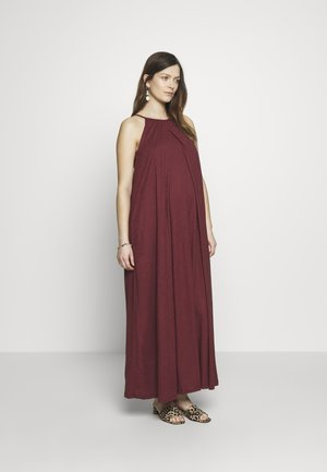 AIR HALTERNECK DRESS - Jersey dress - bordeaux