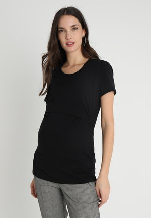 CLASSIC SHORT SLEEVED - Jednoduché triko - black