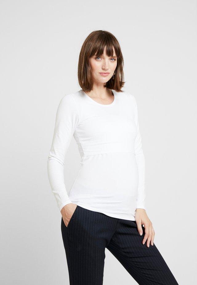 CLASSIC LONG SLEEVED - Bluzka z długim rękawem - white