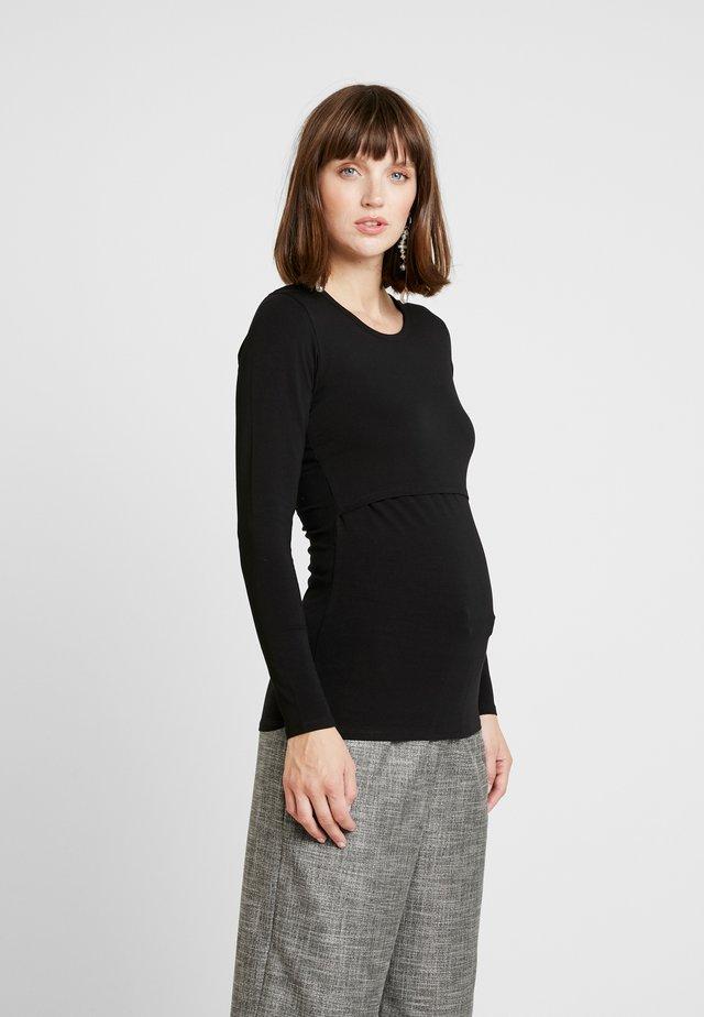 CLASSIC LONG SLEEVED - Bluzka z długim rękawem - black