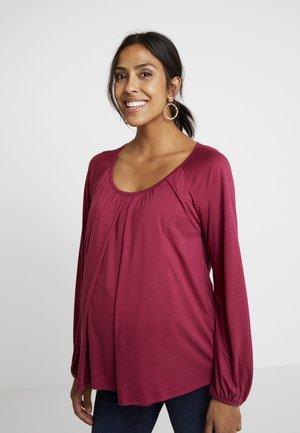 LIV - Långärmad tröja - beet red