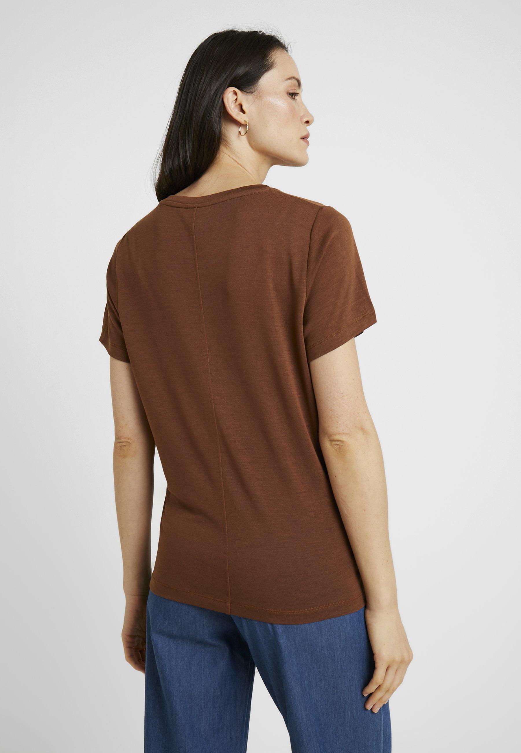Basique Cinnamon V NeckT shirt Boob 7gby6f