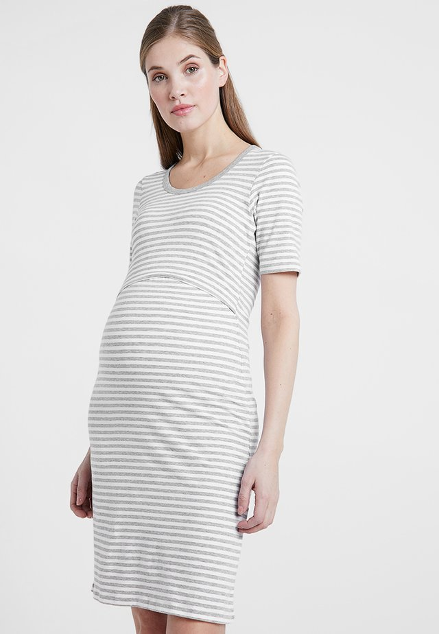 NIGHT DRESS - Negligé - white/grey melange