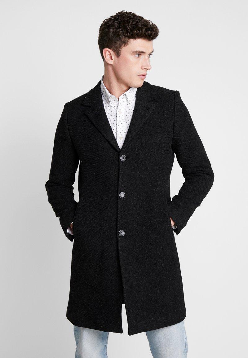 Brixtol Textiles - IAN - Classic coat - black melange