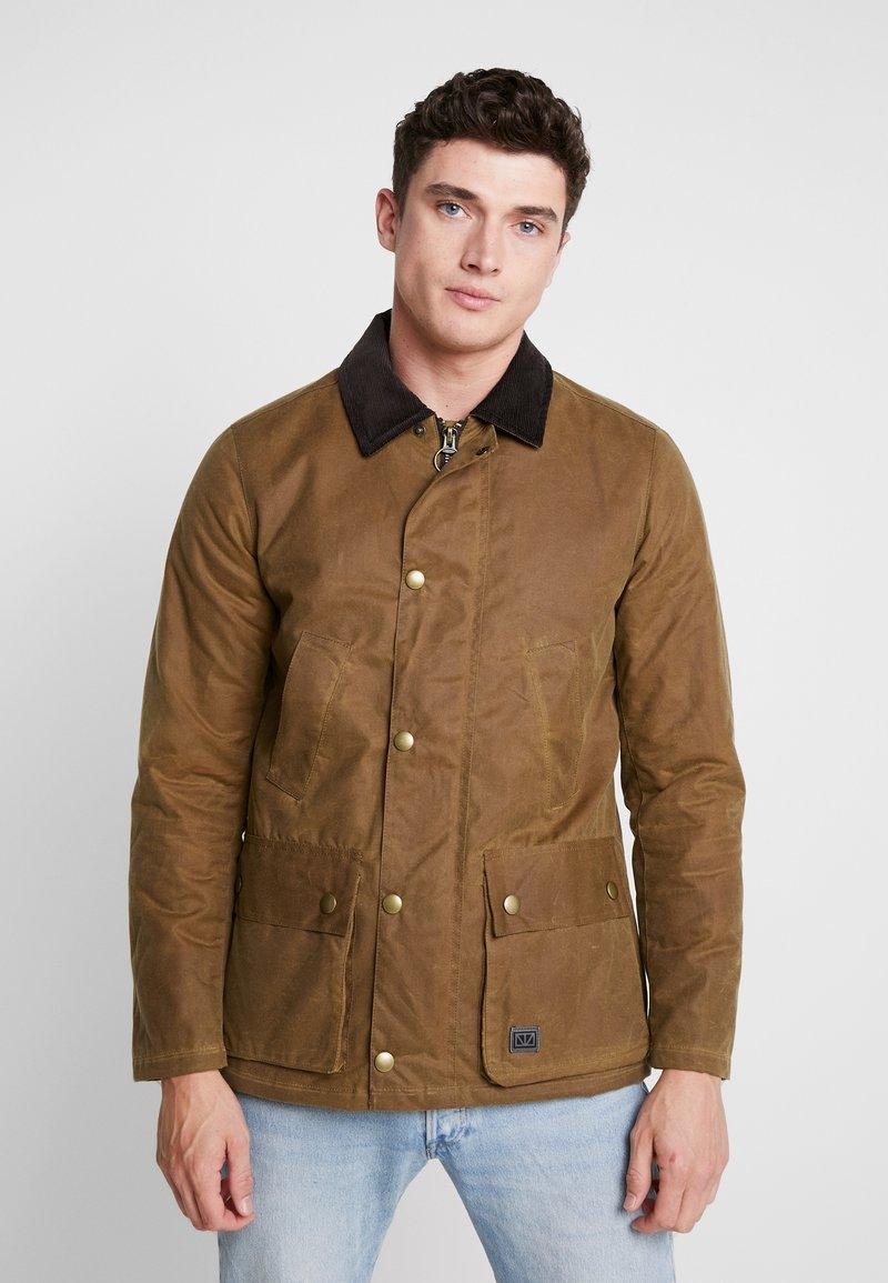 Brixtol Textiles - CURTIS - Abrigo corto - beige