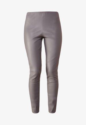 ELENASOO - Pantalon en cuir - grey