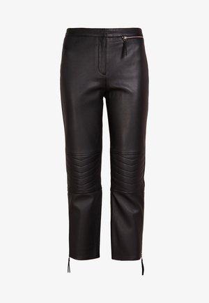 VIRANA - Kožené kalhoty - black