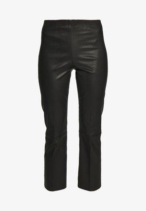 FLORENTINA - Pantaloni di pelle - black