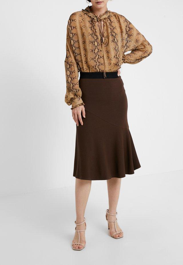 TASSIA - A-line skirt - warm brown