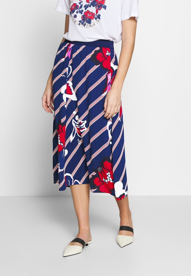 BIELLA - A-line skirt - ultramarine