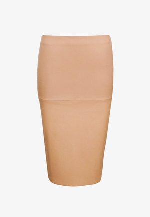 FLORIDIA - Pencil skirt - tan