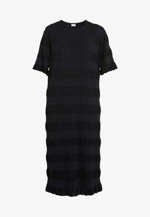 HELOSIS - Strikket kjole - black
