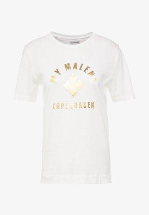 ELULA - T-shirt z nadrukiem - soft white