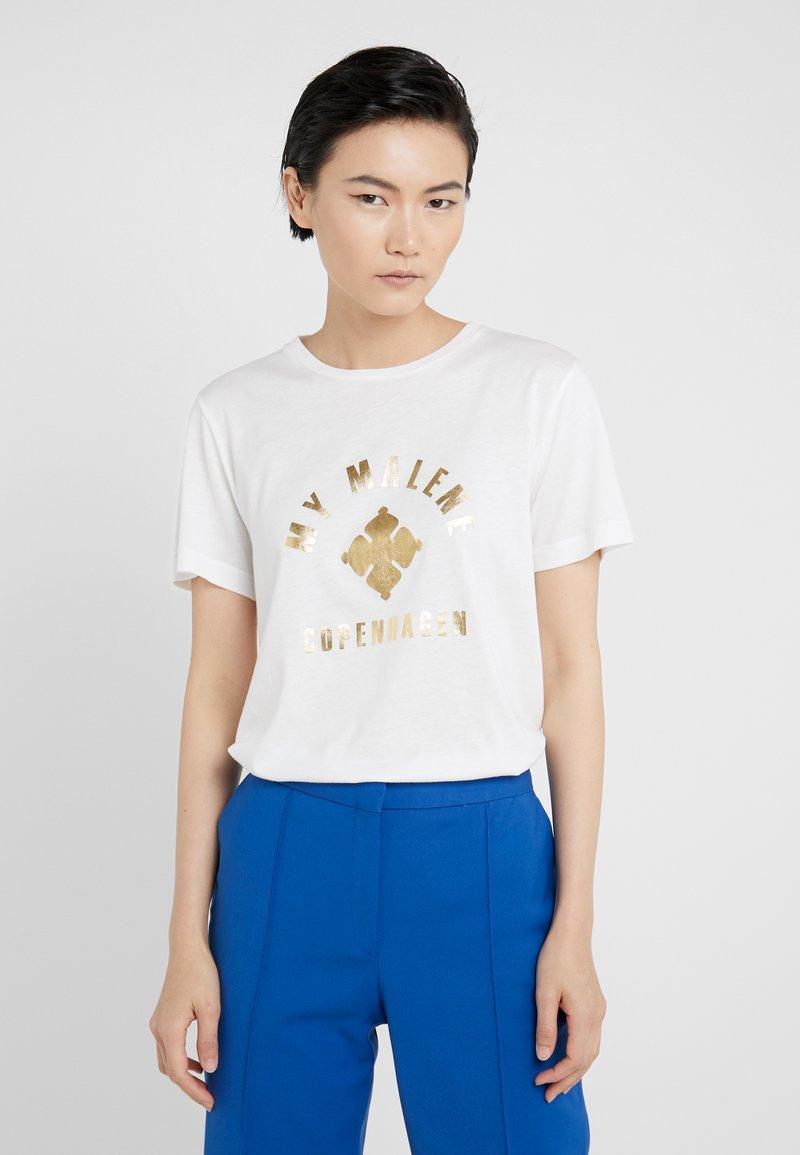 By Malene Birger - ELULA - T-shirt imprimé - soft white