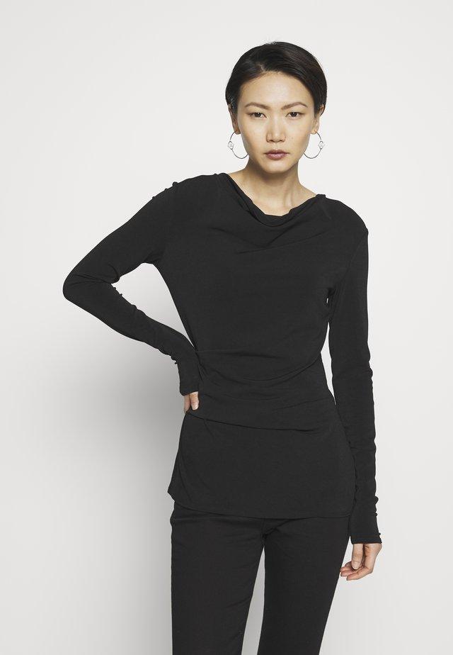 KANIA - Long sleeved top - black