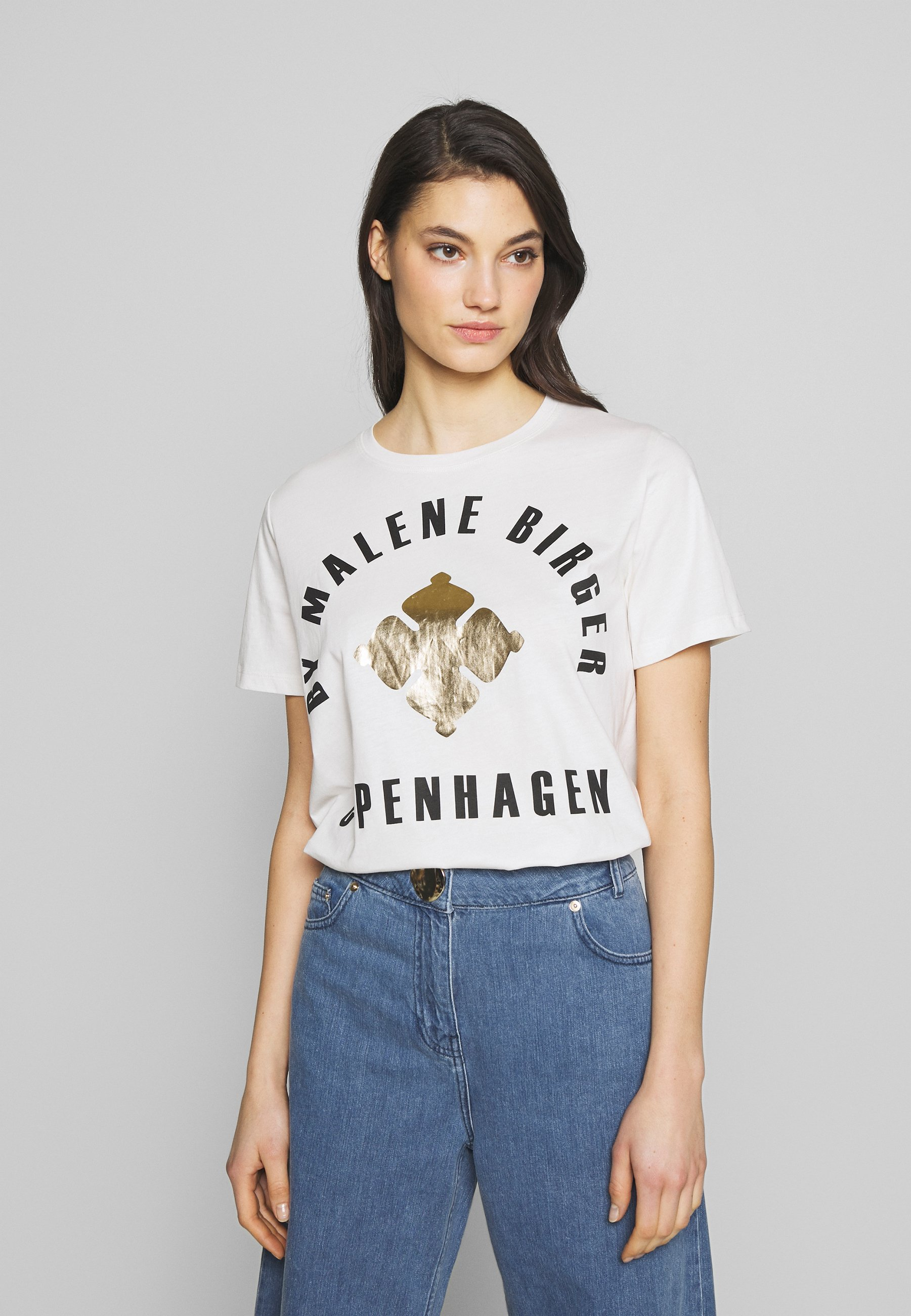 By Malene Birger DESMOS - T-shirts med print - gold