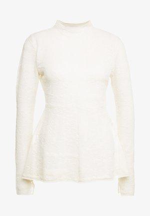 MAURIA - Stickad tröja - soft white