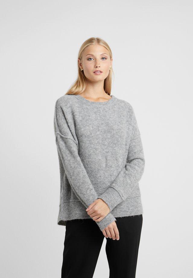 BIAGIO - Stickad tröja - med grey melange
