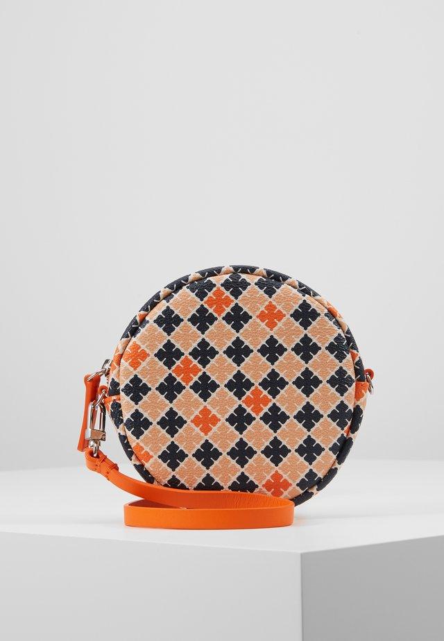 Across body bag - orange/multi-coloured