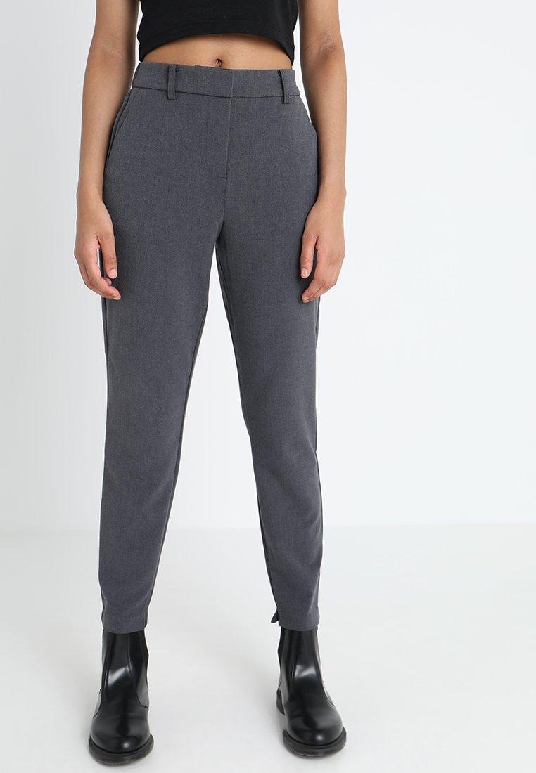 b.young - DANTA PANTS CROP  - Trousers - dark grey melange