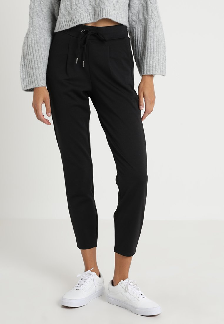 b.young - RIZETTA CROP PANTS - Tracksuit bottoms - black