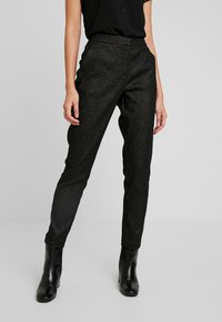 b.young - BYDAVA PANTS - Trousers - black combi - 0