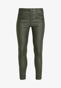 b.young - BYLOLA BYKIKO DECO ZIP - Broek - peat green - 5