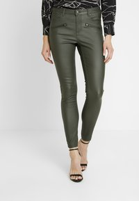 b.young - BYLOLA BYKIKO DECO ZIP - Broek - peat green - 0