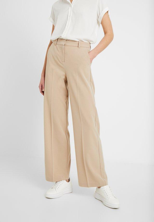 BYDANTA WIDE LEG PANTS - Trousers - beige