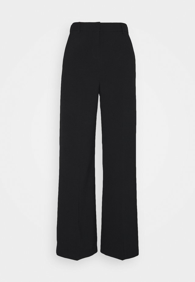 BYDANTA WIDE LEG PANTS - Tygbyxor - black