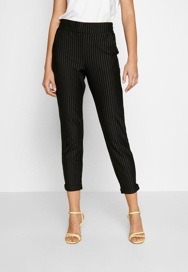 BYTINA STRIPED PANTS - Kalhoty - black