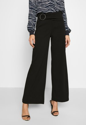 WIDE PANTS  - Broek - black