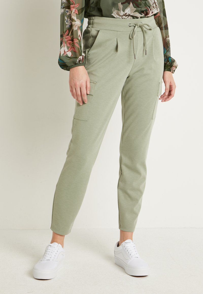 b.young - RIZETTA CARGO PANTS - Joggebukse - meliert sea green