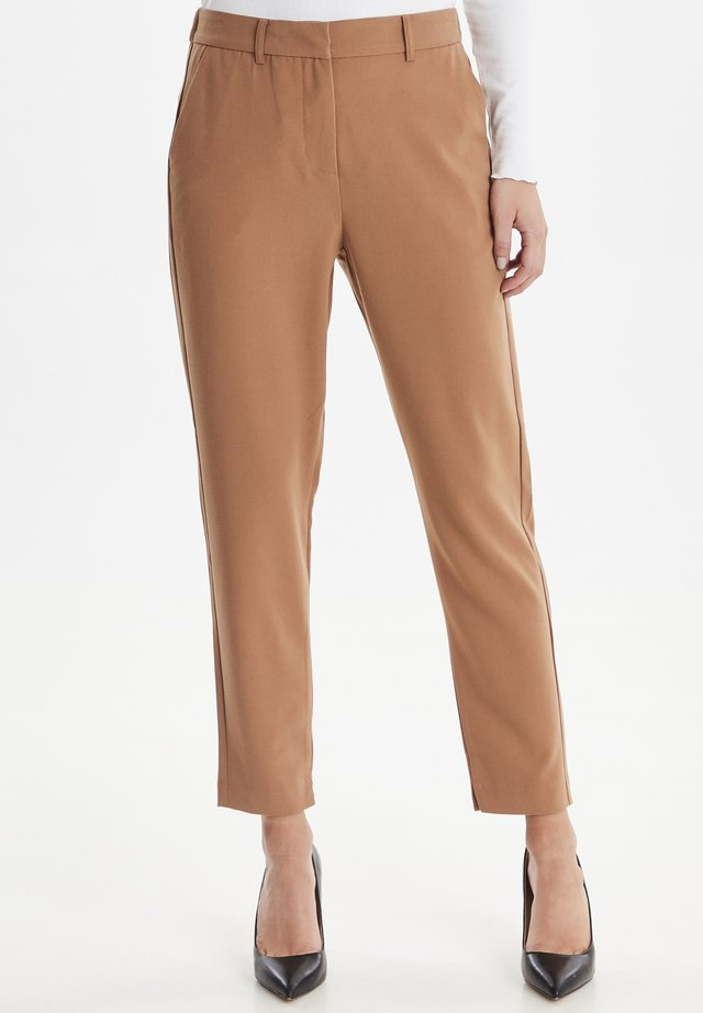 Trousers - almond