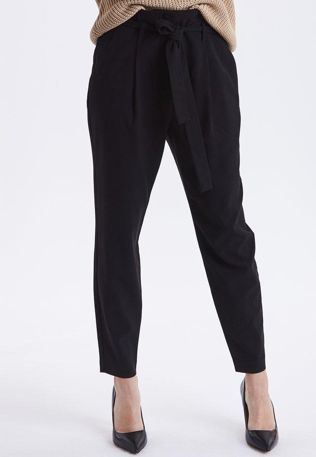 BYDANTA - Trousers - black