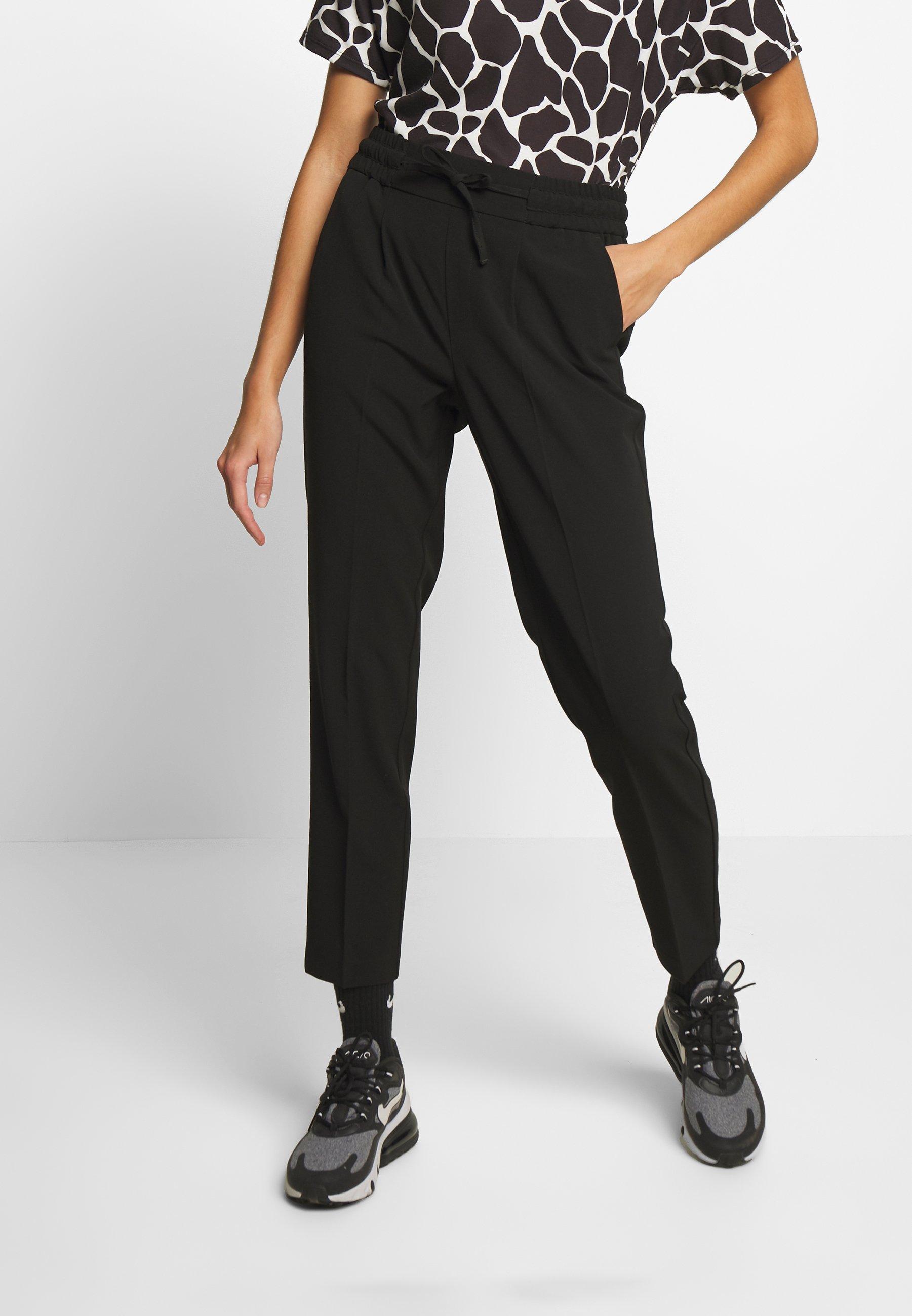 b.young STRING PANTS  - Spodnie materiałowe - black