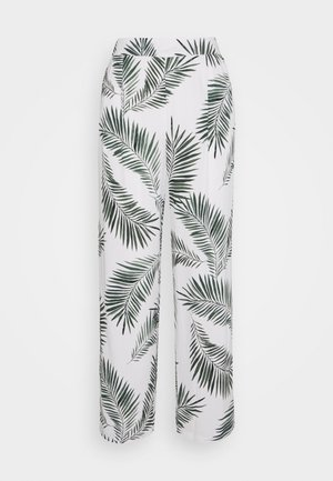 FIA PANTS - Pantaloni - sea green leaves combi