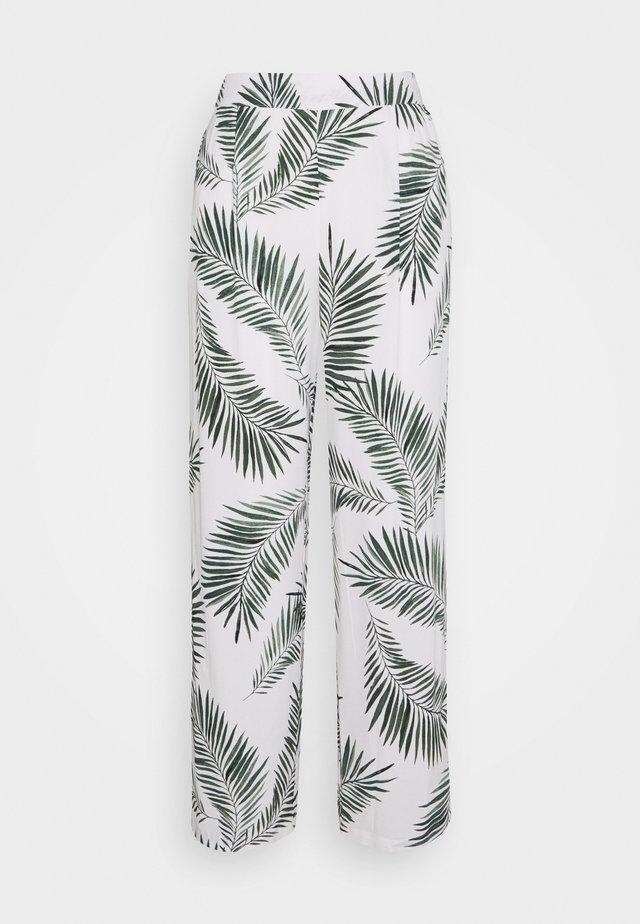 FIA PANTS - Spodnie materiałowe - sea green leaves combi