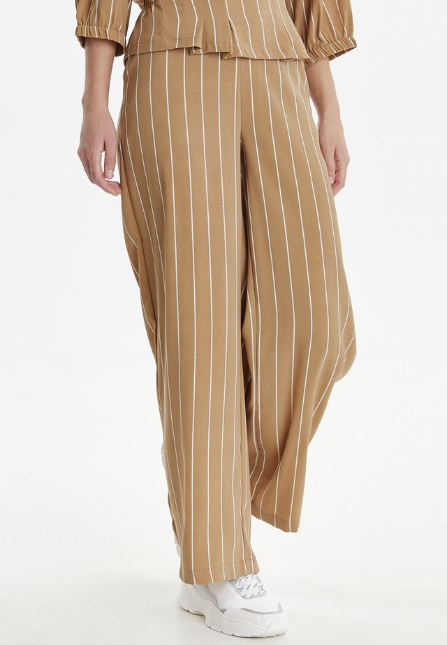 BYDAISY - Trousers - golden sand combi