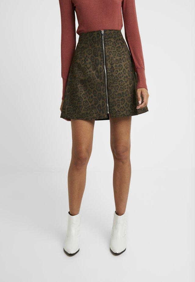 DAZZO SKIRT - A-line skirt - olive night combi