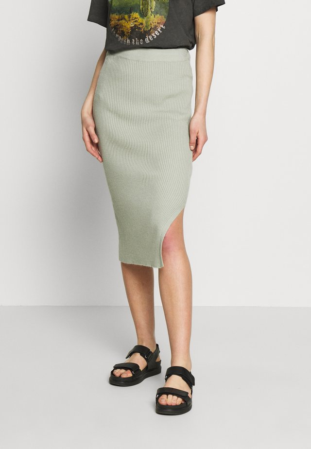 BYMALTO SKIRT - Pencil skirt - sea green