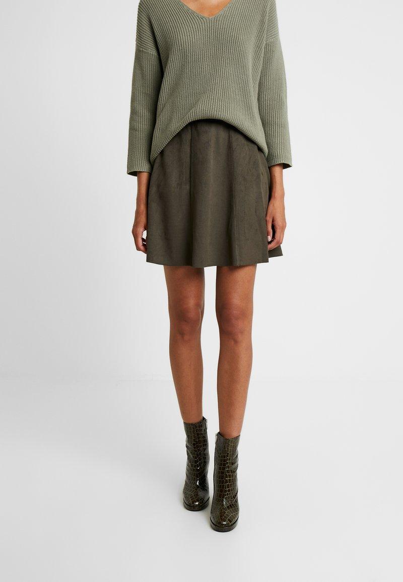 b.young - RILMA SKIRT - A-line skirt - olive night