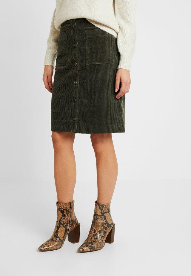 DOTEA SKIRT - Pencil skirt - olive night