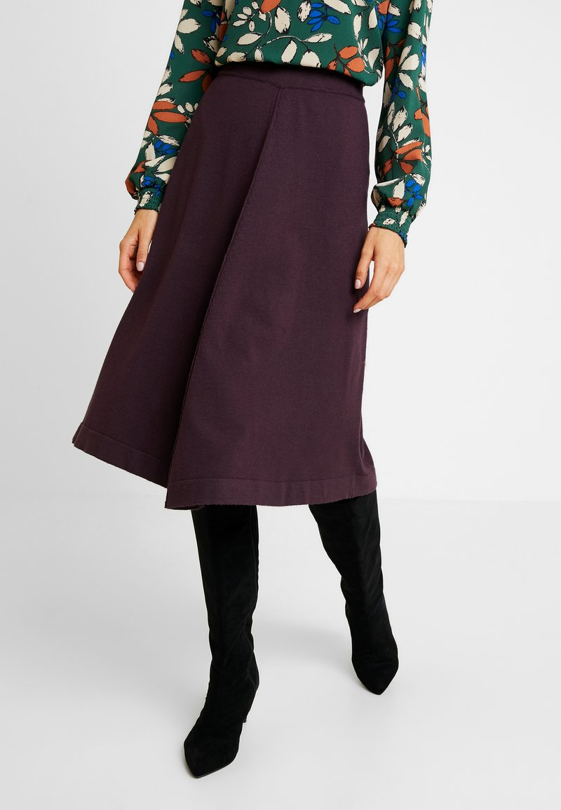 b.young - BYNANCY SKIRT - A-linjainen hame - shadow puple