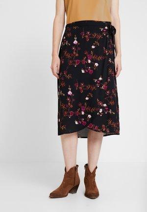 BYGESITA WRAP SKIRT - A-line skirt - black combi